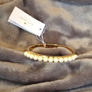 NWT Kate Spade Pearly Delight Gold Plated Bracelet